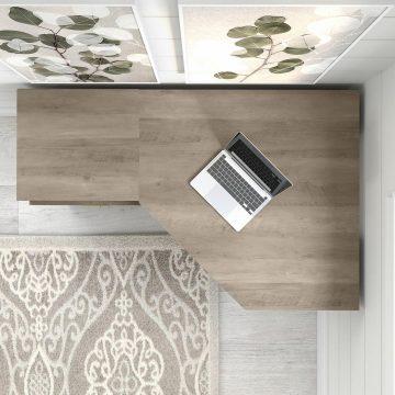 60W Reversible Corner Desk and Chair Set