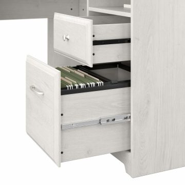 60W L Shaped Computer Desk with Hutch
