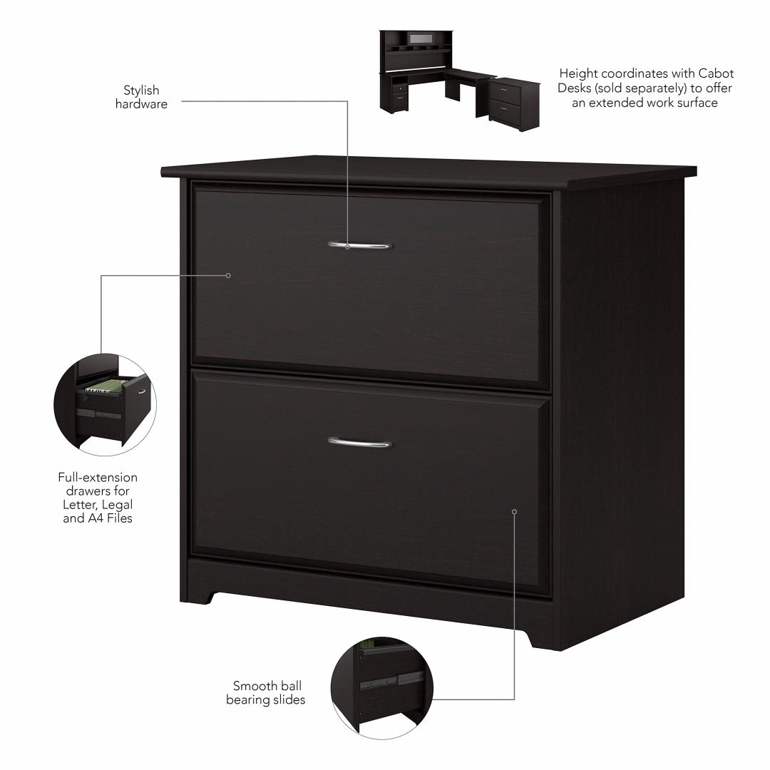 3 Position Sit to Stand Corner Bookshelf Desk with Lateral File Cabinet