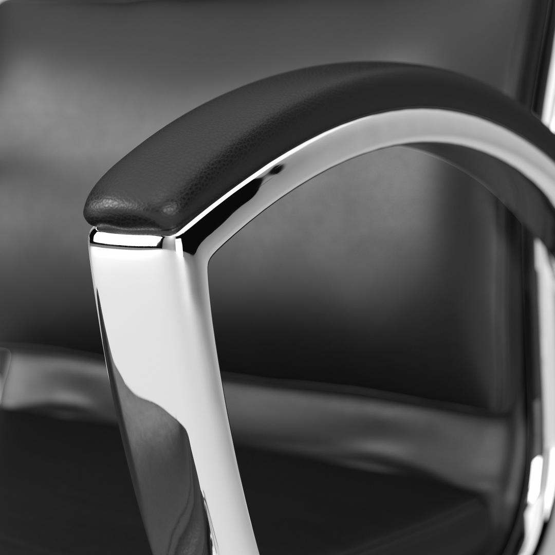 Mid Back Leather Executive Office Chair