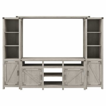 65W Farmhouse TV Stand with Shelves Entertainment Center