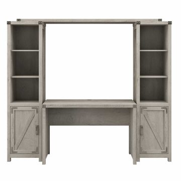 48W Farmhouse Writing Desk with Bookshelves