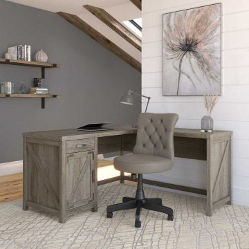 60W L Shaped Desk and Chair Set