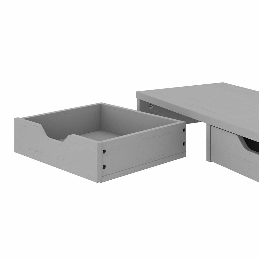 60W L Shaped Desk with Storage and Desktop Organizers