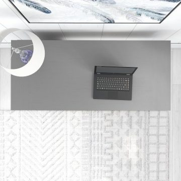 54W Computer Desk with Keyboard Tray and Storage