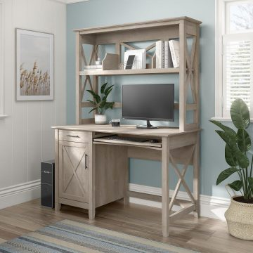 48W Small Computer Desk with Hutch