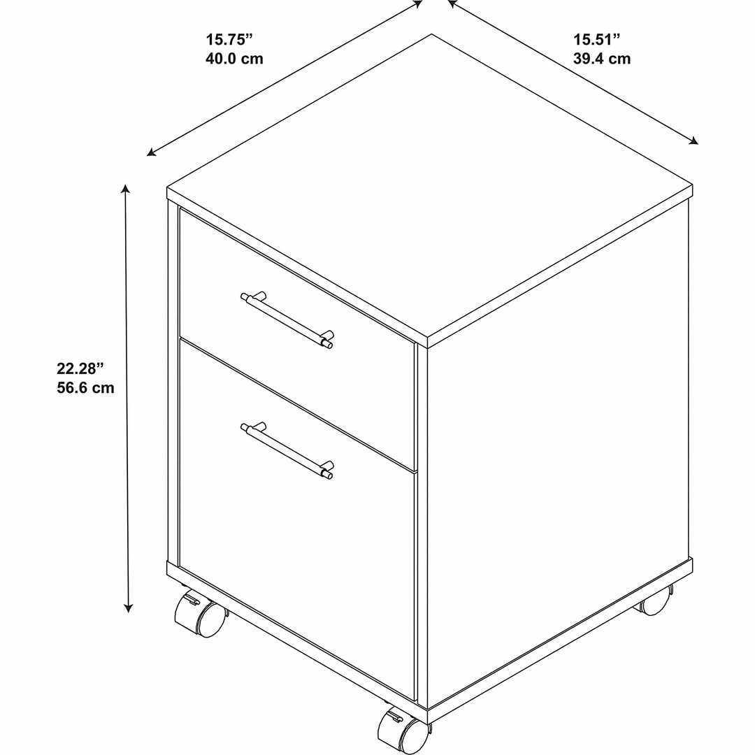2 Drawer Mobile File Cabinet