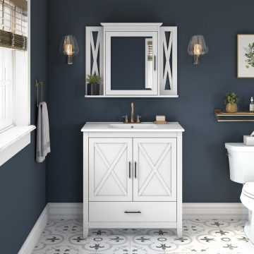 32W Bathroom Vanity Sink with Mirror