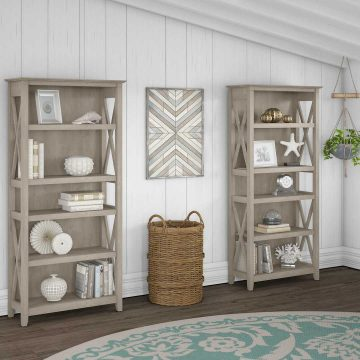 5 Shelf Bookcase Set