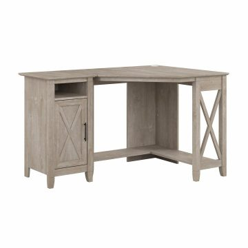 Small Corner Desk with Storage Cabinet