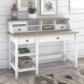 54W Computer Desk with Shelves and Desktop Organizer