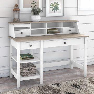 54W Computer Desk with Shelves and Desktop Organizer