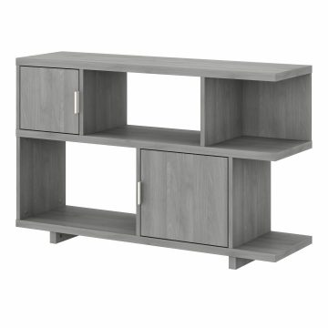 Low Geometric Bookcase with Doors