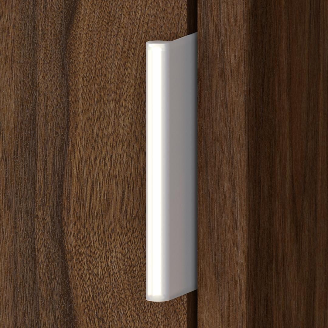 Large Geometric Etagere Bookcase with Doors