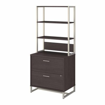 2 Drawer Lateral File Cabinet with Hutch