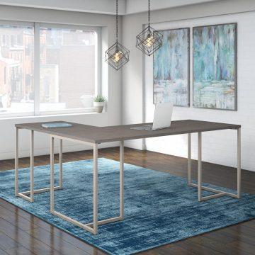 72W L Shaped Desk with 30W Return