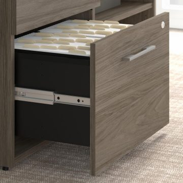 Low Storage Cabinet with Drawers and Shelves