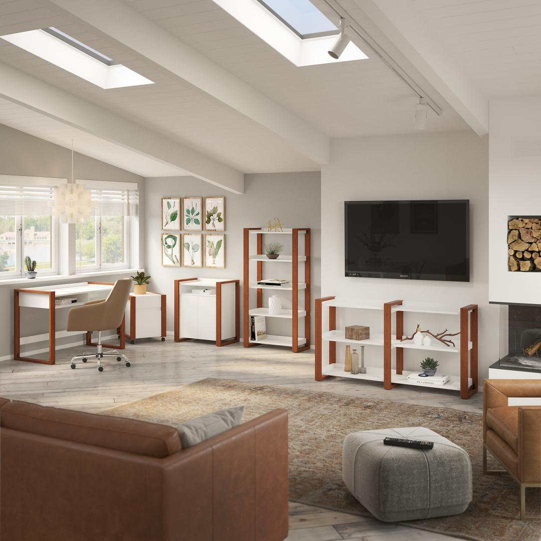 Modern Accent Storage Cabinet with Doors