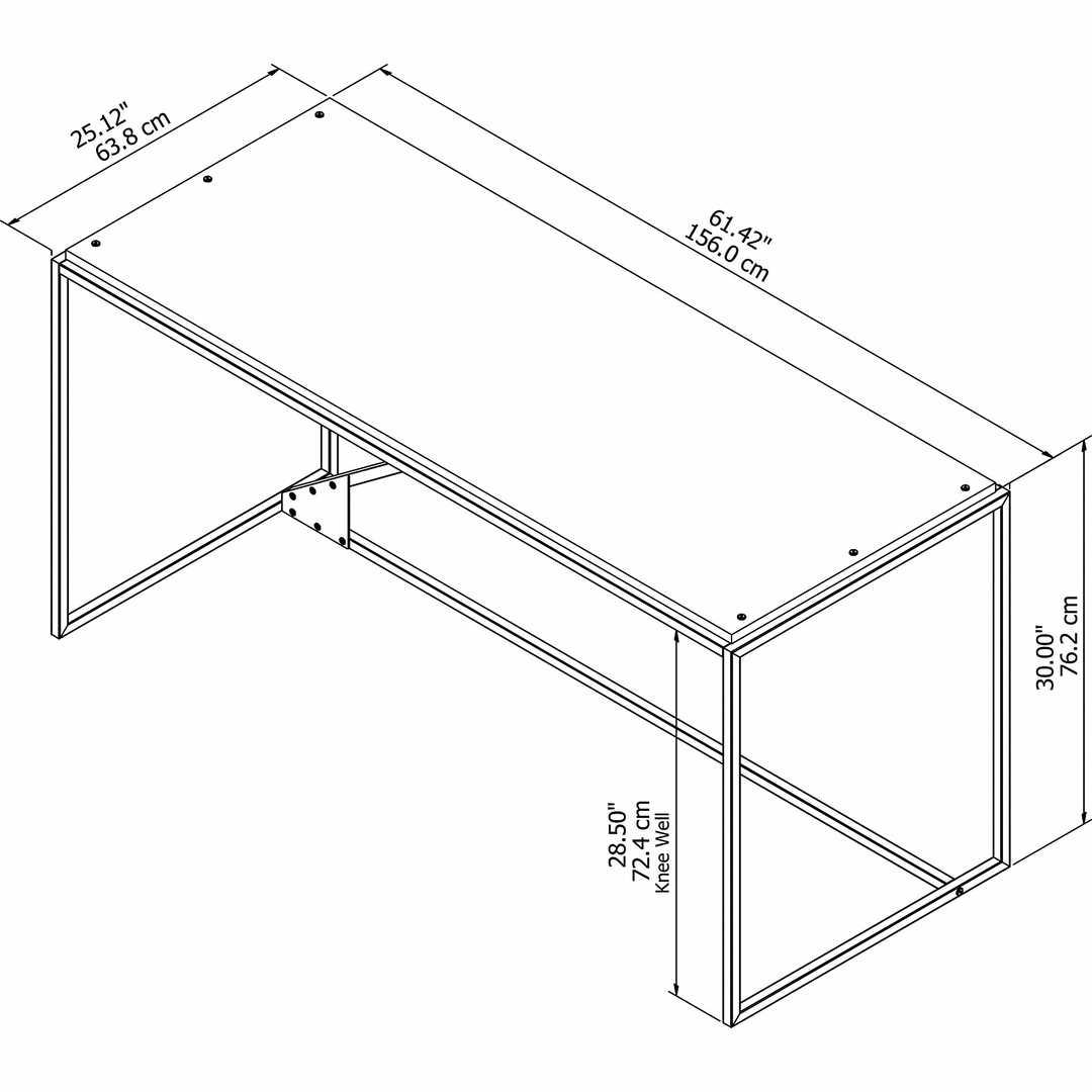62W Industrial Desk