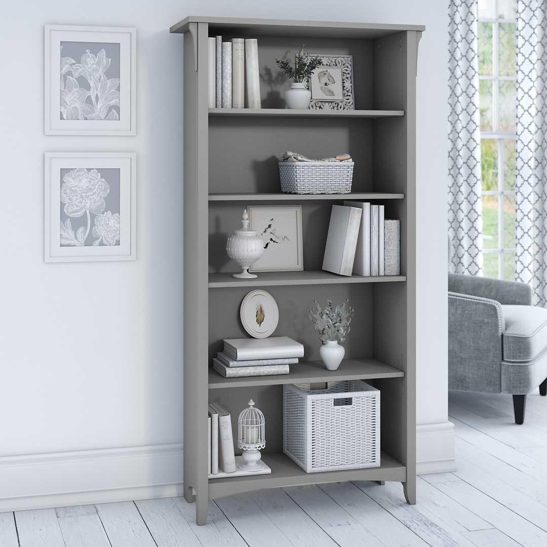 Tall 5 Shelf Bookcase
