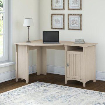 55W Corner Desk with Storage
