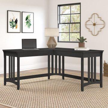 60W L Shaped Writing Desk