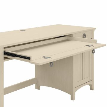 60W Computer Desk with Storage and Keyboard Tray