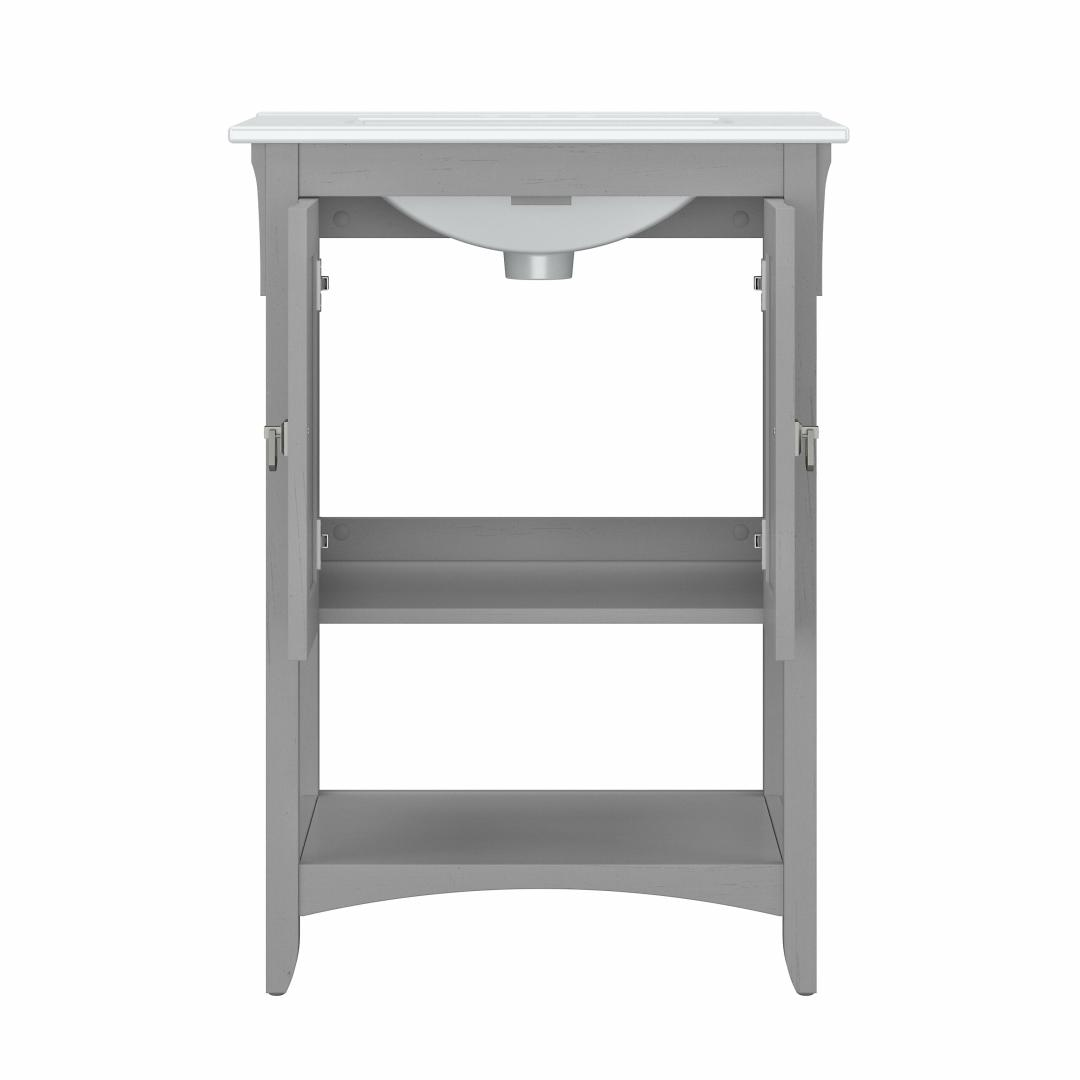 48W Double Vanity Set with Sinks, Medicine Cabinets and Linen Tower