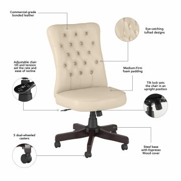High Back Tufted Office Chair