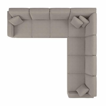 111W L Shaped Sectional Couch