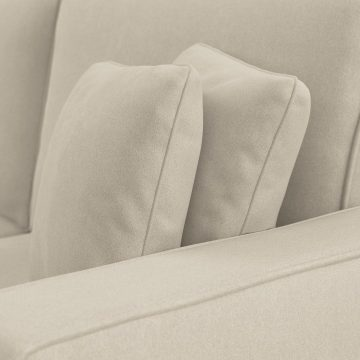 128W U Shaped Sectional Couch with Reversible Chaise Lounge