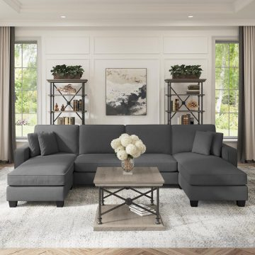 131W Sectional Couch with Double Chaise Lounge
