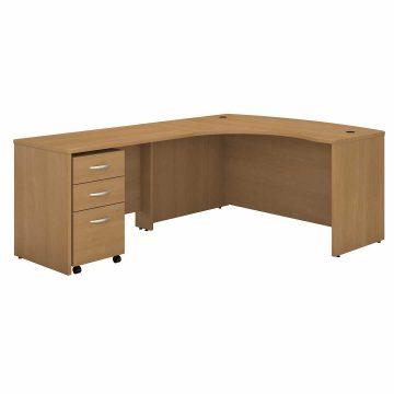 Left Handed L Shaped Desk with Mobile File Cabinet