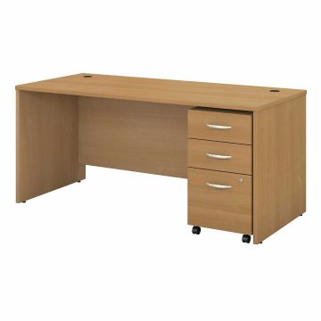 66W x 30D Office Desk with Mobile File Cabinet