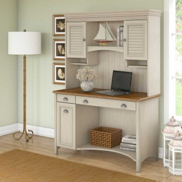 Computer Desk with Hutch and Drawers