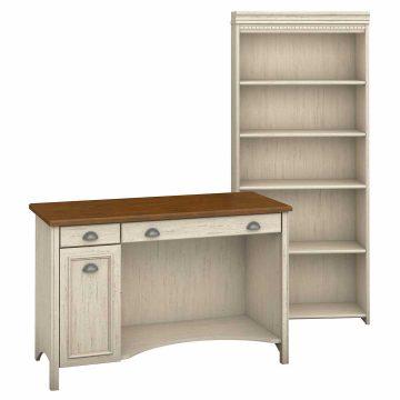 Computer Desk and 5 Shelf Bookcase
