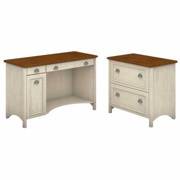 Computer Desk with 2 Drawer Lateral File Cabinet