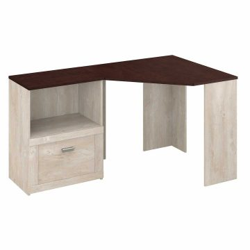 Corner Desk with Lateral File Cabinet