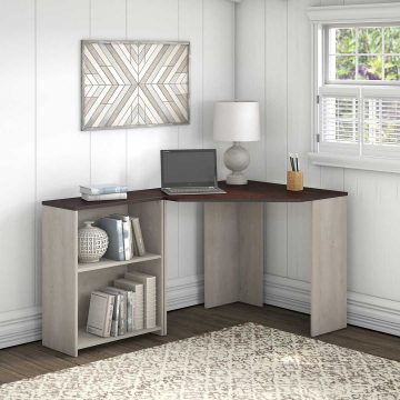 Corner Desk with Bookcase