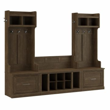 Entryway Storage Set with Hall Trees and Shoe Bench with Drawers