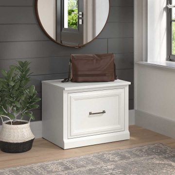24W Small Shoe Bench with Drawer