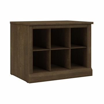 24W Small Shoe Bench with Shelves