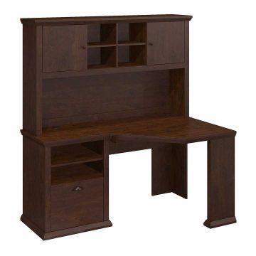 60W Corner Desk with Hutch
