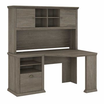 60W Corner Desk with Hutch