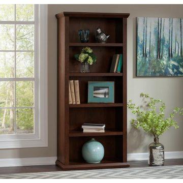 Tall 5 Shelf Bookcase Set of 2