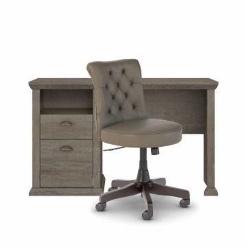 50W Home Office Desk and Chair Set